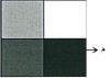 قيمة السطوع في الخلية المشار إليها بالرمز ( م ) في الشكل المقابل: