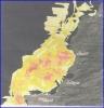 الصورة الفضائية المجاورة استخدمت في دراسة